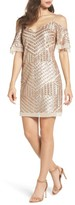 Vince Camuto Petite Women's Sequin Cold Shoulder Dress