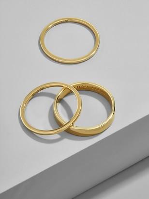 BaubleBar Tris 18K Gold Plated Stacking Ring Set
