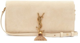 Saint Laurent Kate Tasselled Suede Cross-body Bag - Beige
