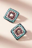 Anthropologie Beaded Diamond Post Earrings