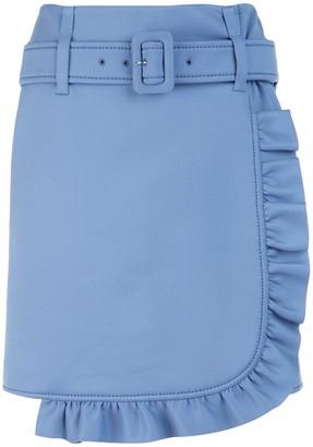 Prada Belted Ruffle Mini Skirt