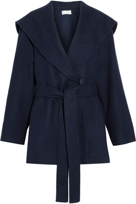 The Row Reyna Cotton And Wool-blend Felt Hooded Jacket