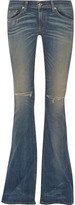 Rag & Bone Bell distressed mid-rise flared jeans