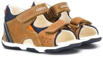 Geox Kids Logo Printed Velcro Sandals
