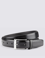 M&S Collection Coated Leather Active Waistband Expander Belt