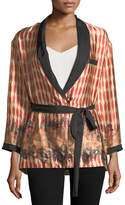 Giada Forte Printed Belted Silk Topper Jacket