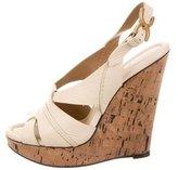 Chloé Leather Platform Wedge Sandals