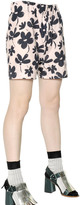 Marni Floral Cotton Poplin Shorts