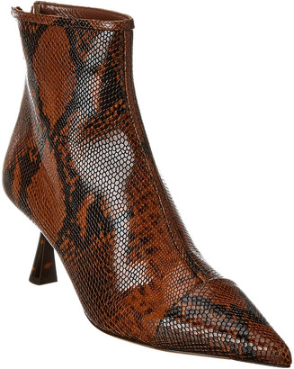 Jimmy Choo Kix 65 Croc-Embossed Leather Bootie