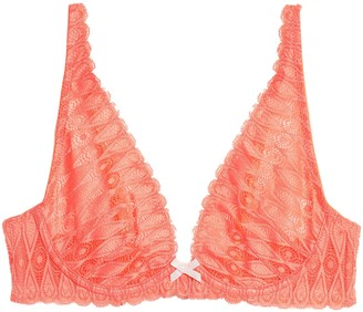 Heidi Klum Intimates Dreamtime Scalloped Leavers Lace Underwired Bra
