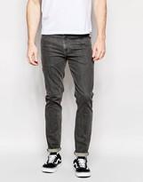 Asos Skinny Jeans In Mid Gray