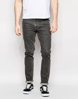 Asos Skinny Jeans In Mid Grey