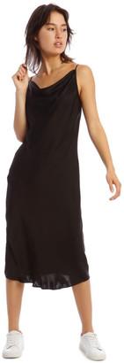 Milk and Honey Black Slip Dress