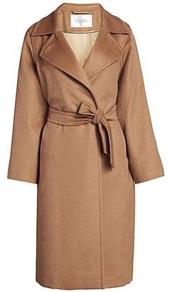 Max Mara Manuela Icon Camel Hair Wool Wrap Coat