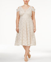 R & M Richards Plus Size Lace A-Line Dress