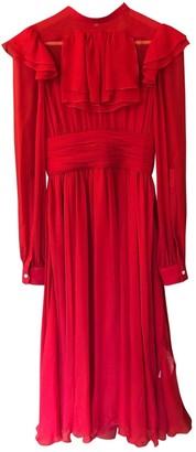 N°21 N21 Red Silk Dress for Women