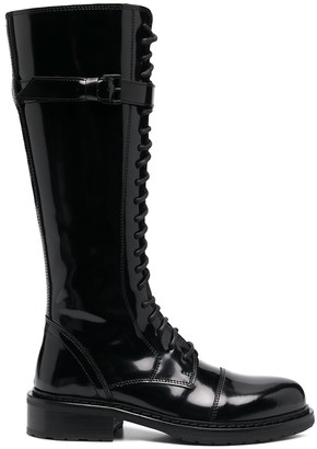 Ann Demeulemeester Knee Length Lace-Up Boots