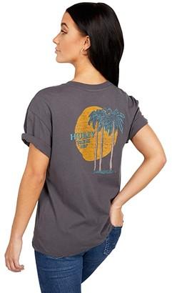 Hurley Tres Palms GF Crew (Thunder Grey) Women's Clothing