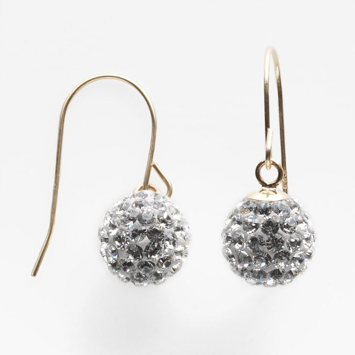 Swarovski Gold 'n' ice 14k gold crystal drop earrings - made with elements