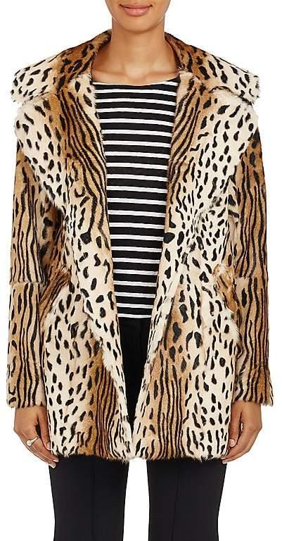 A.L.C. Women's Elara Leopard-Print Fur Coat