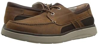 Clarks Un Abode Step (Dark Tan Leather) Men's Slip on Shoes