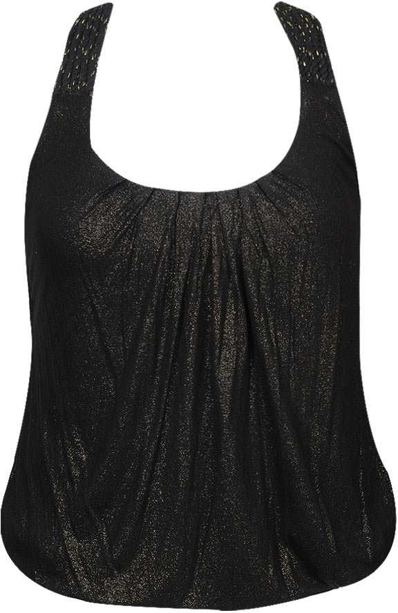 Forever 21 Faith21 Metallic Dusted Top