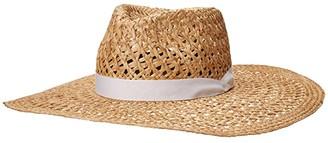 Rag & Bone Open Weave Wide Brim Hat (Natural) Caps