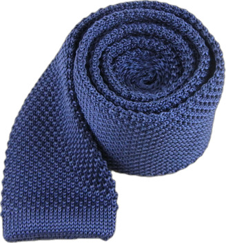 The Tie Bar Whale Blue Knitted Tie