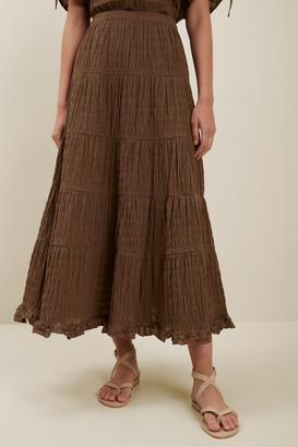 Seed Heritage Textured Tiered Maxi Skirt