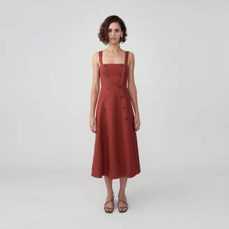 Fame & Partners Buttoned Open Back Dress