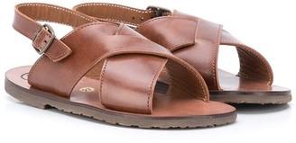 Pépé Kids Crossover Strap Flat Sandals