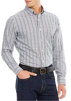 Daniel Cremieux Grandeur Nights Collection Long-Sleeve Glen Plaid Woven Shirt