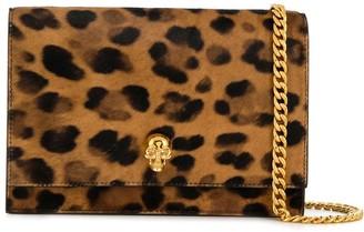 Alexander McQueen Leopard Print Cross-Body Bag
