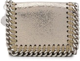 Stella McCartney Falabella metallic tri-fold wallet