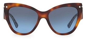 Valentino 55MM Tortoise Cat Eye Sunglasses