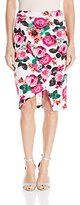XOXO Women's Printed Asymmetrical Skirt