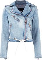 Diesel biker denim jacket - women - Cotton - XS