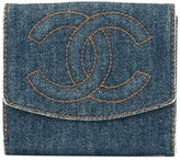 Chanel Pre Owned logos bifold wallet