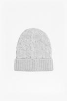 Aran Knit Beanie Hat