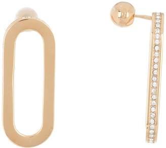 Burberry Crystal Oval Link Earrings