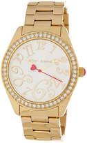 Betsey Johnson Women's Crystal Embellished Bracelet Watch, 40mm