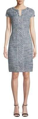 Karl Lagerfeld Paris Fringe Tweed Sheath Dress