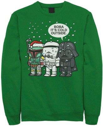 Star Wars Licensed Character Men's Boba It's Cold Outside Chibi Style Fleece