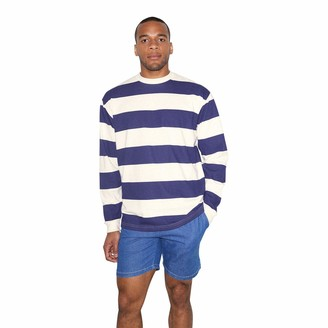 American Apparel Men's Heavy Jersey Long Sleeve Box T-Shirt