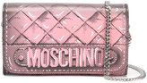 Moschino trompe-l'œil quilted chain wallet