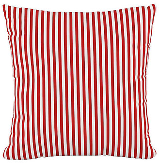 One Kings Lane Further 20x20 Pillow - Candy Stripe Red