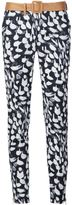 Sophie Theallet animal print slim-fit trousers - women - Cotton/Polyamide/Polyester - 6