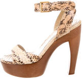 Alexander McQueen Snakeskin Platform Sandals
