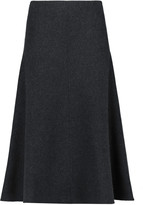 Iris and Ink Evita wool and cashmere-blend felt midi skirt