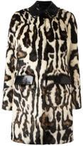 Carven faux fur patterned coat